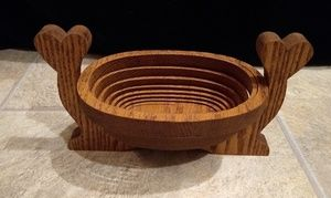 Handmade Collapsible Wooden Basket